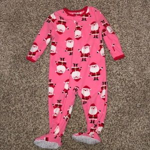 Child of Mine Santa fleece sleeper - like new!